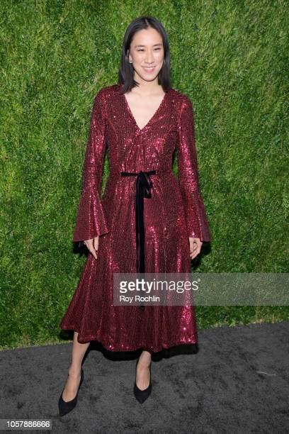 Eva Chen attends the CFDA / Vogue Fashion Fund 15th Anniversary Event at Brooklyn Navy Yard on November 5 2018 in Brooklyn New York