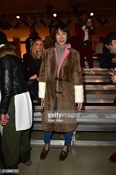 Eva Chen attends the DKNY Women's Fall 2016 Show from Front Row during New York Fashion Week: The Shows at the Skylight Modern on February 17, 2016...