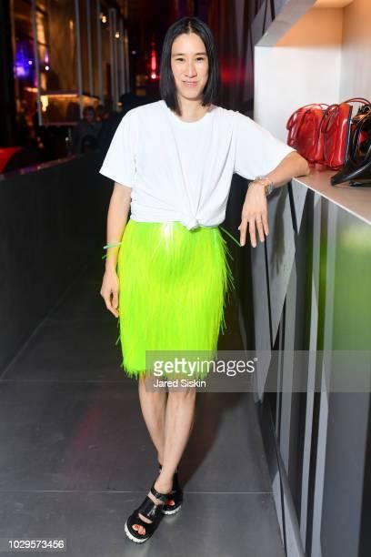 Eva Chen attends the Prada Linea Rossa event at Prada Broadway, NY on Sept. 8, 2018.