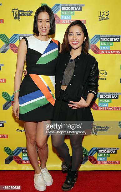 Eva Chen, Editor-in-Chief of Lucky and Internet personality Michelle Phan attend 'How To Keep Your Social Media Game Sincere' during the 2015 SXSW...