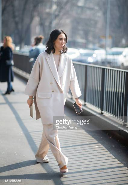Eva Chen is seen outside Fendi on Day 2 Milan Fashion Week Autumn/Winter 2019/20 on February 21 2019 in Milan Italy