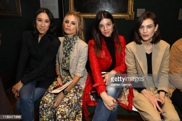 Eva Chen Laura Bailey Julia Restoin Roitfeld and Alexa Chung attend the Erdem show during London Fashion Week February 2019 at the National Portrait...
