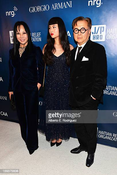 Eva Chow actress China Chow and restaurateur Michael Chow attend the 2nd Annual Sean Penn and Friends Help Haiti Home Gala benefiting J/P HRO...