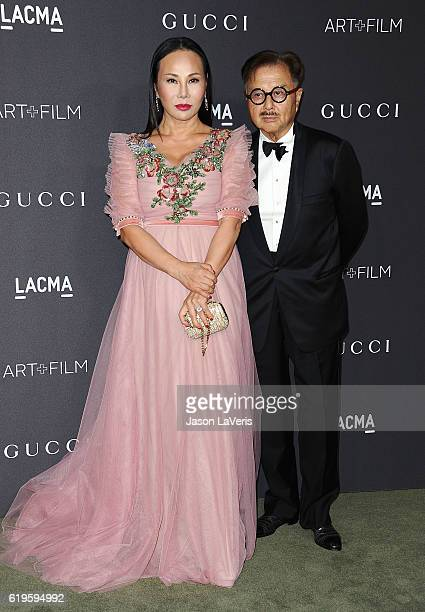 Eva Chow and Michael Chow attend the 2016 LACMA Art Film gala at LACMA on October 29 2016 in Los Angeles California