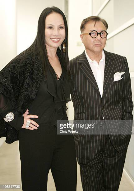 Eva Chow and Michael Chow during Christopher Wool Opening Reception at Gagosian Gallery at Gagosian Gallery in Beverly Hills California United States