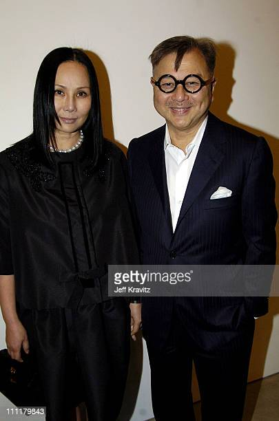 Eva Chow and Michael Chow during Richard Prince Check Paintings at Gagosian Gallery in Beverly Hills California United States