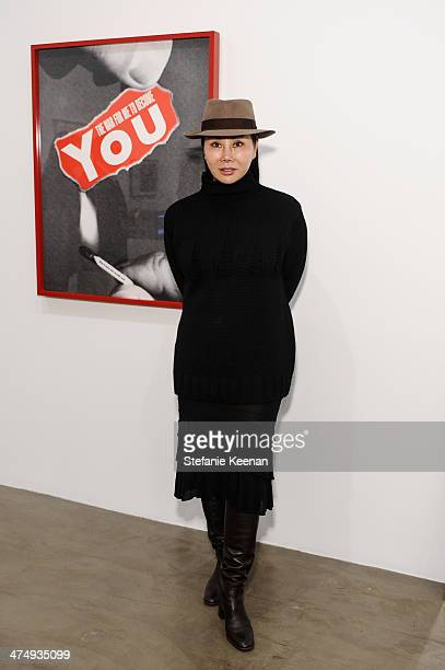 Eva Chow attends CalArts Art Benefit And Auction Los Angeles Opening Reception At Regen Projects on February 25 2014 in Los Angeles California