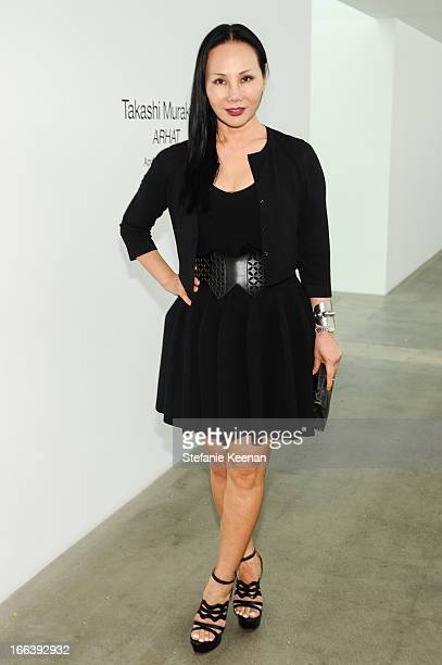 Eva Chow attends Takashi Murakami Private Preview And Dinner At Blum Poe Los Angeles on April 11 2013 in Los Angeles California