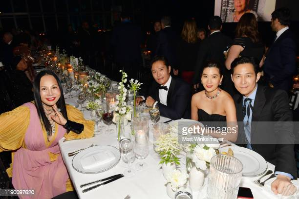 Eva Chow Lee Byunghun Se Ryung lim and Lee Jungjae attend the 2019 LACMA Art Film Gala Presented By Gucci at LACMA on November 02 2019 in Los Angeles...