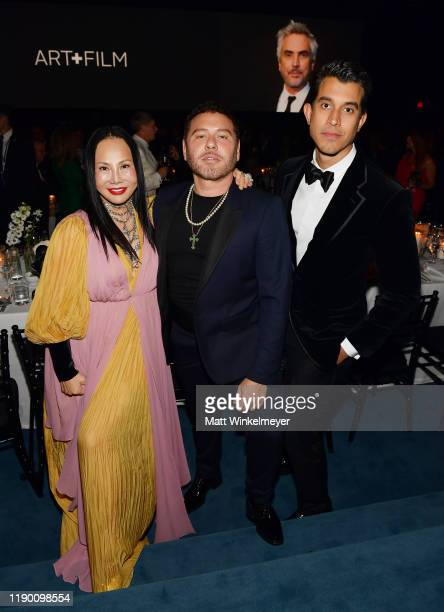 Eva Chow wearing Gucci Mert Alas and guest attend the 2019 LACMA Art Film Gala Presented By Gucci at LACMA on November 02 2019 in Los Angeles...