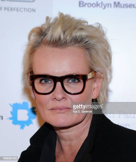 Eva Dahlgren attends the VIP reception and viewing for The Fashion World of Jean Paul Gaultier From the Sidewalk to the Catwalk at the Brooklyn...