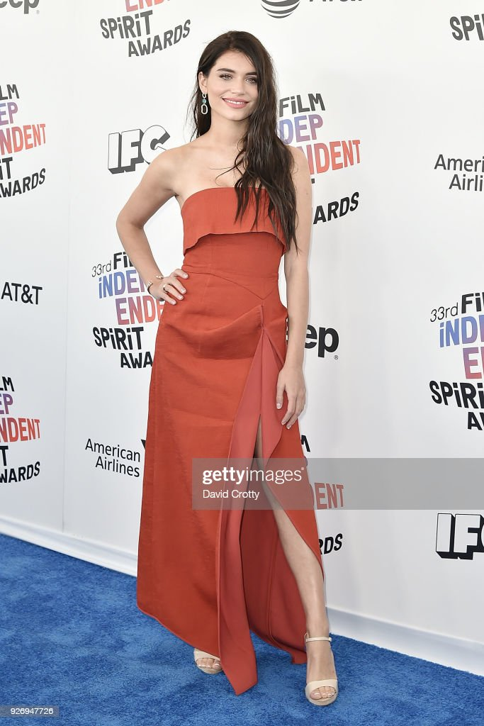 Eva De Dominici attends the 2018 Film Independent Spirit Awards - Arrivals on March 3, 2018 in Santa Monica, California.