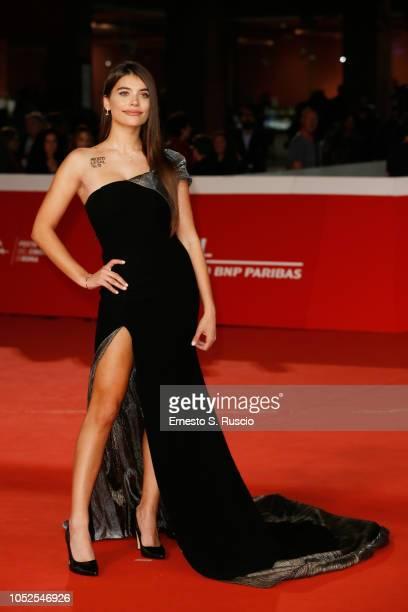 Eva De Dominici walks the red carpet ahead of the Sangre Blanca screening during the 13th Rome Film Fest at Auditorium Parco Della Musica on October...