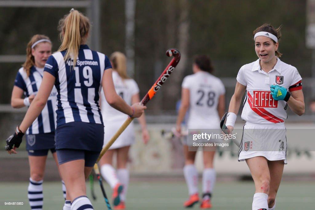 Eva de Goede of the Netherlands vies for the ball with a ... |Eva De Goede