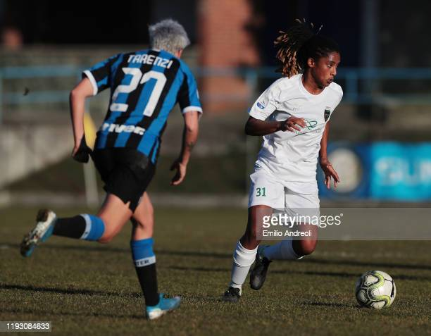 Eva Dessislava Dupuy of Florentia San Gimignano in action during the Women Serie A match between FC Internazionale and Florentia San Gimignano at...