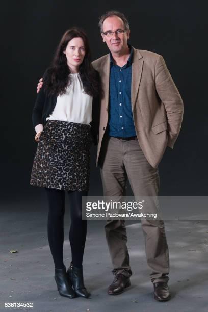 Eva Dolan and Volker Kutscher attend a photocall during the Edinburgh International Book Festival on August 21 2017 in Edinburgh Scotland