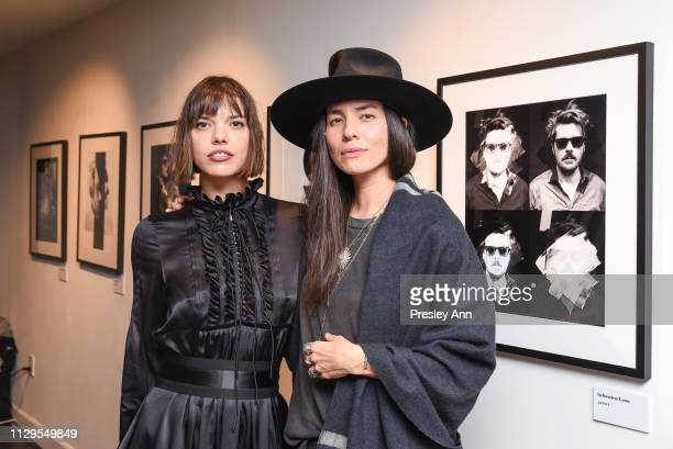 Eva Dolezalova and Tasya van Ree attend Oliver Peoples x Tasya van Ree Celebrates Who is Oliver Exhibition at LECLAIREUR on February 13 2019 in Los...