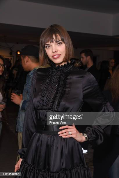 Eva Dolezalova attends Oliver Peoples x Tasya van Ree Celebrates Who is Oliver Exhibition at LECLAIREUR on February 13 2019 in Los Angeles California