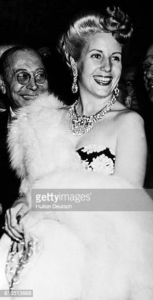 Eva Duarte de Peron also called Evita was an actress before her 1945 marriage to populist Argentine dictator Juan Peron