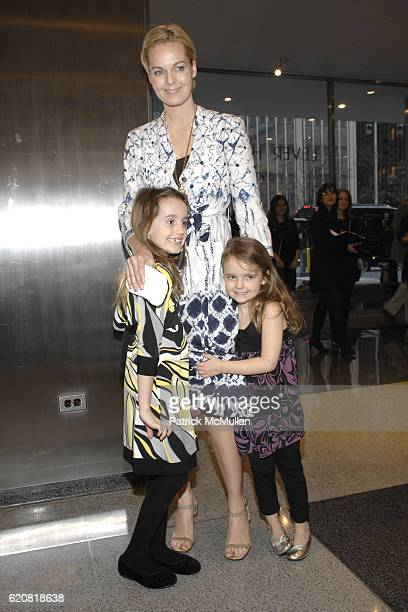 Eva Dupont Lauren Dupont and Lila Dupont attend Opening of RICHARD DUPONT's TERMINAL STAGE at Lever House on March 13 2008 in New York City
