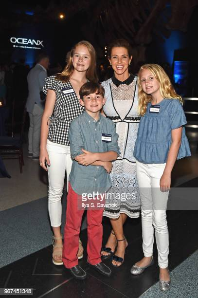 Eva Edwards Reese Hubbard Stephanie Ruhle and Simms Edwards attend the Launch Of OceanX a bold new initiative for ocean exploration at the American...
