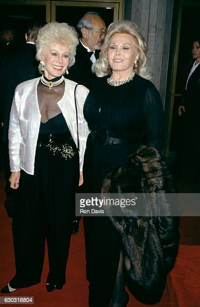 Eva Gabor and Zsa Zsa Gabor arrive during That's Entertainment III Westwood Premiere on April 28 1994 at the Mann's National Theater in Westwood...