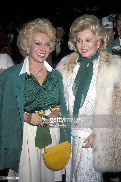 Eva Gabor and Zsa Zsa Gabor during Brunch To Celebrate The 1st Annual St Patrick's Day Parade at Jimmy's Restaurant in Beverly Hills California...