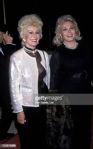 Eva Gabor and Zsa Zsa Gabor during That's Entertainment III Premiere at Mann's National Theater in Westwood California United States