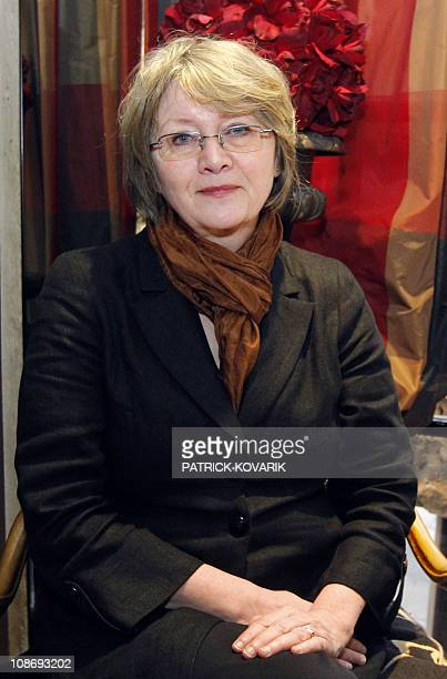 Eva Gabrielsson longtime partner of Swedish late writer Stieg Larsson author of the bestselling 'Millennium' trilogy poses on January 27 2011 at her...
