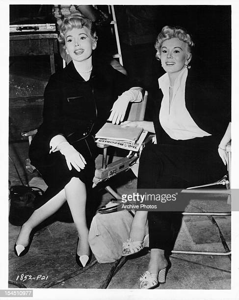 Eva Garbor and Zsa Zsa Gabor 1957