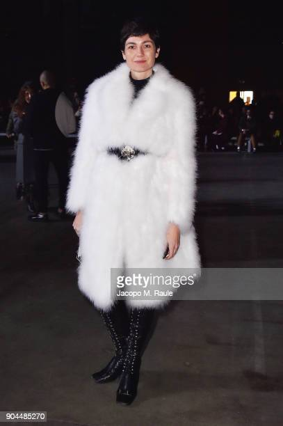 Eva Geraldine Fontanelli attends the Diesel Black Gold show during Milan Men's Fashion Week Fall/Winter 2018/19 on January 13 2018 in Milan Italy
