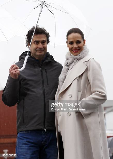 Eva Gonzalez and Spanish chef Pepe Rodriguez attend MasterChef Casting Call on January 13 2018 in Madrid Spain