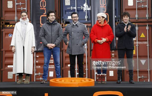 Eva Gonzalez and Spanish chefs Pepe Rodriguez Quique Dacosta Samantha Vallejo Najera and Jordi Cruz attend MasterChef Casting Call on January 13 2018...
