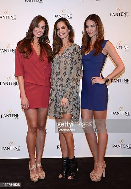Eva Gonzalez Ariadne Artiles and Helen lindes present 'Pelo Pantene' 2012 at the Milk Studio on September 26 2012 in Madrid Spain