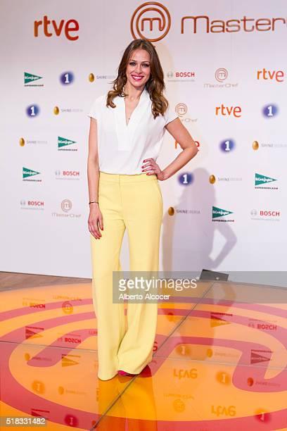 Eva Gonzalez attends 'Masterchef' Season 4 Presentation on March 31 2016 in Madrid Spain
