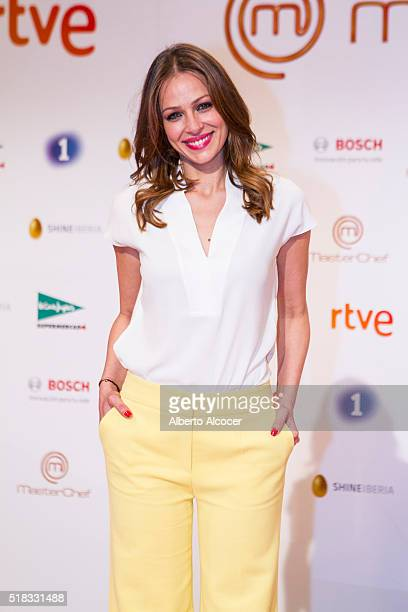 Eva Gonzalez attends 'Masterchef' Season 4 Presentation on March 31 2016 in Madrid Spain