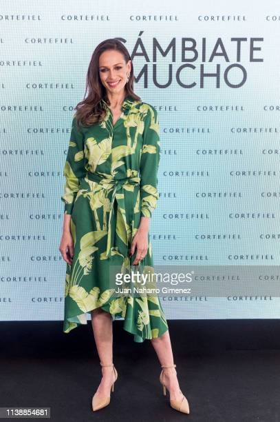 Eva Gonzalez attends the new Cortefiel campaign presentation on March 28 2019 in Madrid Spain