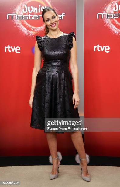 Eva Gonzalez attends the presentation of a new seson of 'Masterchef Junior' at TVE studios on December 14 2017 in Madrid Spain