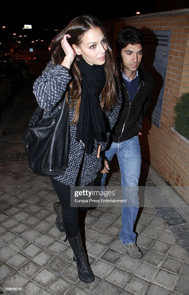 Eva Gonzalez celebrates her 32nd birthday with her boyfriend, the bullfighter Cayetano Rivera on November 5, 2012 in Madrid, Spain.