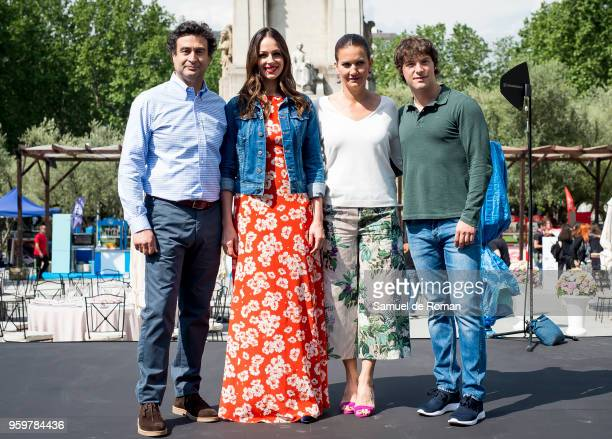 Eva Gonzalez Jordi Cruz Samantha Vallejo Najera and Pepe Rodriguez during Masterchef Celebrity show on May 18 2018 in Madrid Spain