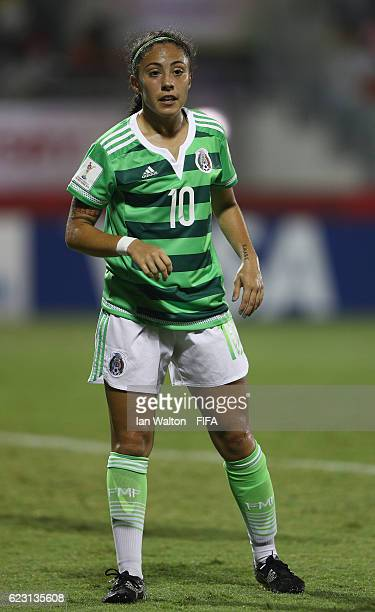 Eva Gonzalez of Mexico in action during the FIFA U20 Women's World Cup Group D match between Mexico and Korea Republic at National Football Stadium...