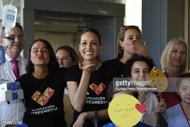 Eva Gonzalez visits children at Hospital Universitario Virgen Del Rocio as part of the 'Día Nacional del Niño Hospitalizado' campaign on May 13 2019...
