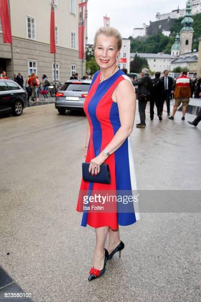 Eva Graefin Walderdorff attends the 'La Clemenzia di Tito' premiere during the Salzburg Festival 2017 on July 27 2017 in Salzburg Austria