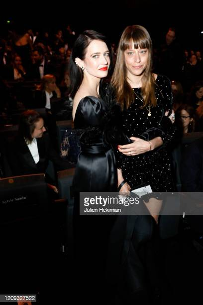 Eva Green and Alice Winocour attend the Cesar Film Awards 2020 Ceremony At Salle Pleyel In Paris on February 28, 2020 in Paris, France.