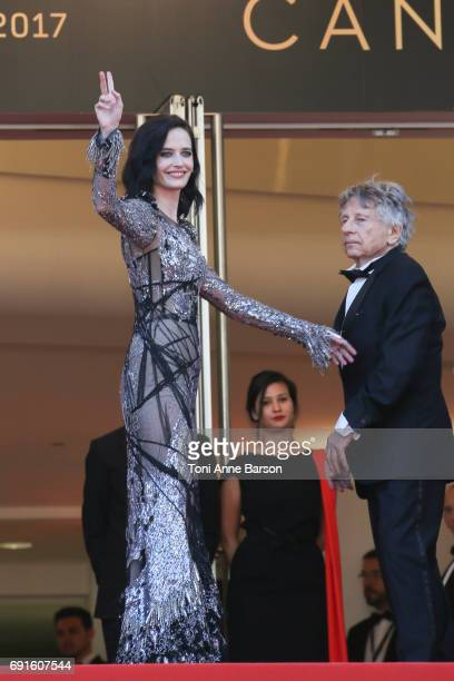 Eva Green and director Roman Polanski attend the 'Based On A True Story' screening during the 70th annual Cannes Film Festival at Palais des...