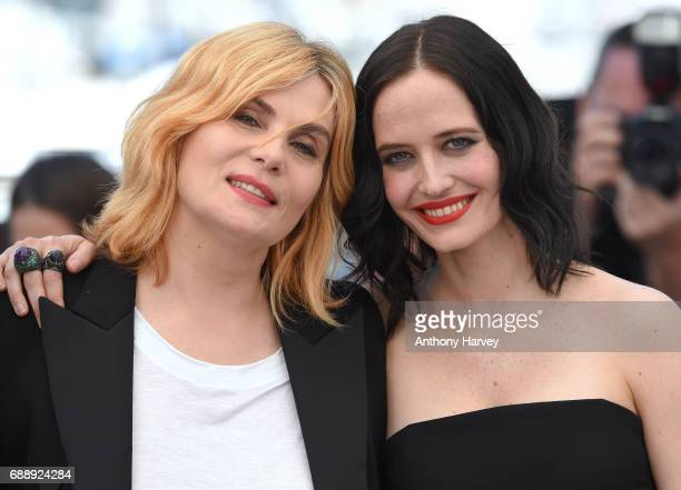 Eva Green and Emmanuelle Seigner attend the Based On A True Story Photocall during the 70th annual Cannes Film Festival at Palais des Festivals on...