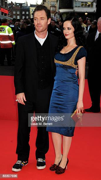 Eva Green and partner Marton Csokas arrive at the world premiere of 'Franklyn' during the BFI 52nd London Film Festival at Odeon West End on October...