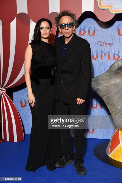 """Eva Green and Tim Burton attend the """"Dumbo"""" Paris Gala Screening at Cinema Le Grand Rex on March 18, 2019 in Paris, France."""