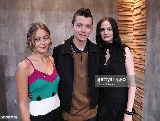 AMERICA Eva Green Asa Butterfield and Ella Purnell are guests on Good Morning America 9/27/16 airing on the Walt Disney Television via Getty Images...