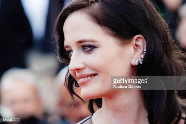 Eva Green attends the Based On A True Story screening during the 70th annual Cannes Film Festival at Palais des Festivals on May 27 2017 in Cannes...